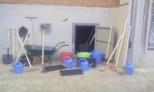 Nuevo material para la huerta y para la compostera